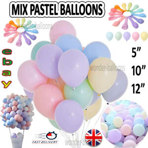 10-100 Macaron Pastel Balloons Birthday Ballons Baby shower Party Decoration mix