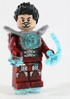 LEGO IRON MAN SILVER CENTURION TONY MINIFIGURE - MADE OF GENUINE LEGO PARTS