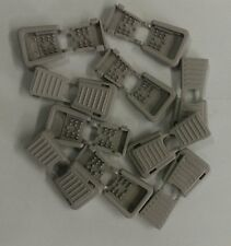 10 Zipper Pull Cord Ends Light Gray. 6mm Open End Clip holds  550 paracord