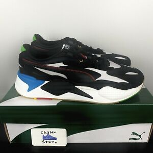 Puma Men's RS-X3 Unity 373308-02 Black White Blue Red Running Shoes Size 12