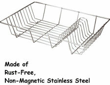 STAINLESS STEEL LARGE WIRE FLAT DISH DRAINER HOLDER RACK RUST FREE