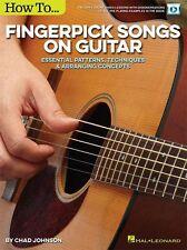 Chad johnson comment fingerpick chansons apprendre jouer guitare music book & en ligne audio