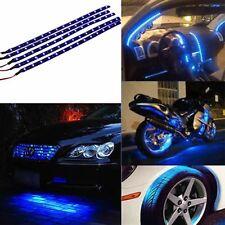 5x30cm 15 Blue LED Waterproof Flexible Car Motor Grill Strip Light Lamp Bulb 12V