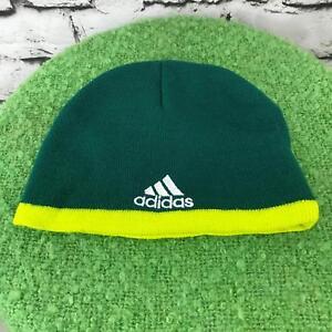 Adidas Portland Timber Boys Sz 4-7 Hat Green Stretch Knit Warm Winter Skull Cap