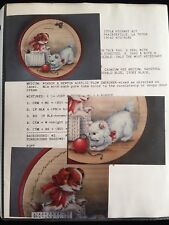 Decorative Tole Painting Puppy Kitties And Bears Pattern Instruction Packet