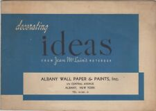 Decorating Ideas From Jean McLain's Notebook, Albany Wall Paper & Paints,  1945