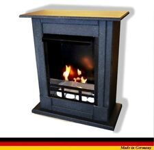 Chimenea Fireplace Caminetti Etanol Firegel Madrid Deluxe Royal Granito negro