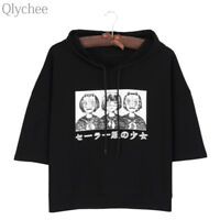 Harajuku Style Women Hoodie T-shirt Japan Anime Mask Girl Print T shirt