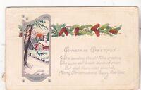 """*Christmas Postcard-""""Christmas Greetings"""" .../Old Postcard/See Scans/  (#439)"""