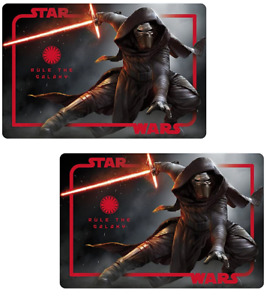 2 Pack BPA-FREE Kids Placemats STAR WARS KYLO REN THE FORCE AWAKENS EASY-CLEAN