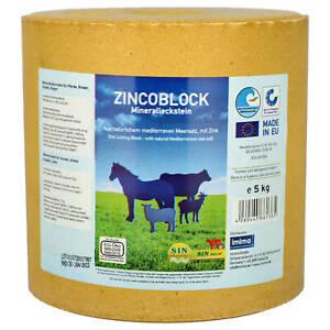 S.I.N. HELLAS Zincoblock Mineralleckstein für Pferde 5 kg Leckstein