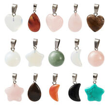 30Pcs Assorted 5 Styles Mixed Healing Chakra Gemstone Pendants Jewelry Making