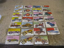 World on Wheels collector car cards by Topps Co., 1953, 27 cards