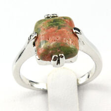 Unqiue Fashion New Natural Gemstone 925 Silver Plated Men Women Ring Size 10