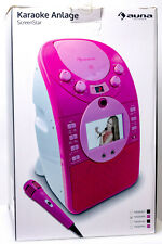 ?? Karaoke Anlage AUNA ScreenStar Player Set TFT Display Pink USB Weihnachten