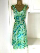 "Per Una size uk 14 M  lined chiffon dress in vgc bust 38-40"""
