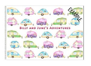 Personalised Caravan Owners Travel Record Log & Journal with Name or Names D21