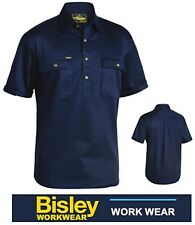BISLEY WORKWEAR - COTTON DRILL CLOSED FRONT SHORT SLEEVE WORK SHIRT -BSC1433