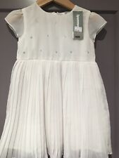 Beautiful 3 Pommes White Dress Age 18-24 Months NEW