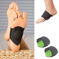1Pair Fasciitis Foot Heel Pain Relief Plantar Insole Pads Arch Support Insert SU