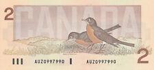 BANK OF CANADA 2 DOLLARS 1986 AUZ0997990 RADAR NOTE - UNC