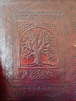 A4 TREE of LIFE Pagan Wicca Handmade Leather Folder Portfolio Binder