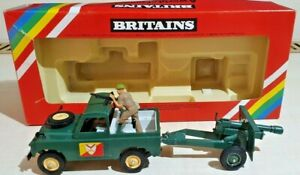 Vintage Britains 9787 Army Land-Rover and Gun Boxed