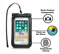 "Universal Waterproof Pouch for Phone Up to 6.5"" with Fingerprint Unlock Function"