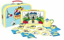 Tea Sets for Girls Madeline Books Theme 24 Pc Childrens Tea Set in Suitcase