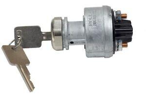 Ignition Switch Heavy Duty 3 Pos GM style key Chrome Nut Hot Rod rat custom 245b