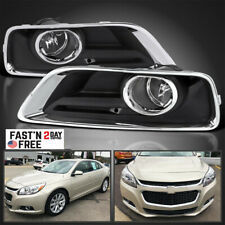 For 2013-15 Chevy Malibu Clear Fog Lights Bumper Driving Lamps w/ Switch+Wiring