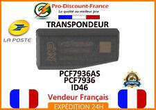 Transpondeur PCF7936AS ID46 Pour Peugeot Citroen Renault ANTIDEMARRAGE Clé puce
