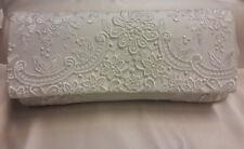 Vintage Brauttasche Clutch grobe Spitze ivory creme Blüten Bianco Evento NEU