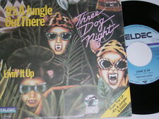 """7"""" - Three Dog Night It's a Jungle out there & Livin it up - 1983 # 3927"""