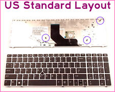 Laptop US Layout Keyboard for HP 55010LP00-515-G W/Silver Frame & Pointer