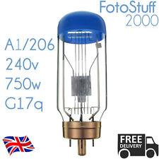 A1/206 240v 750w G17q SYL-206 CWA Sylvania Blue Top Projector Bulb Lamp A1 206