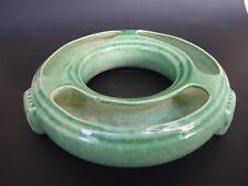Vintage Pates Australian Pottery Sydney Green  Art Deco Float Vase 1940.s