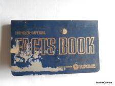 NOS Mopar 1964 Chrysler Imperial Todo Modelos Bolsillo Talla Dealer Hechos Libro