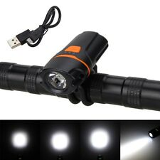 Rechargeable 2000lm XPE LED USB Bicycle Headlamp light Front Bike Lamp Battery
