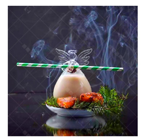 3D Cute Angel Crystal Clear Cocktail Glass Straw Holder Home Decor Flower Vase