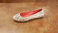 New! Tory Burch 'Minnie' Logo Ballet Flats Floral Leather Womens 11 M MSRP $228
