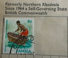 Stamp  Zambia   8n     lightly hinged    lovely issue