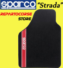 Set 4 Tappetini Tappeti Tuning SPARCO STRADA Rosso per Alfa Romeo GT