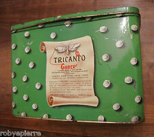 scatola di latta vintage old tin-plate box canfora TRICANFO GABER gabers BAYER