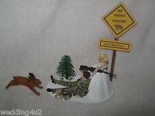 Wedding Party Reception ~Rabbit Hare~ Cake Topper Hunter Hunting Dog Redneck