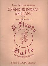 J. N. Hummel - GRAND RONDEAU BRILLANT Op. 126 per Flauto e Pianoforte