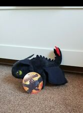 """NEW WITH TAGS 🌠 TOOTHLESS, Night Fury, How To Train Your Dragon, Soft Toy 10"""""""
