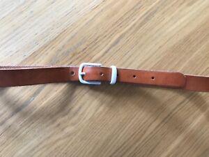 "Oliver Spencer Tan Leather White Ceramic Buckle Belt 32-36"" RRP £95"