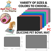 Waterproof Feeding Mat Silicone Bowl Mat Food Pad For Pet Dog Cat Water Cushion