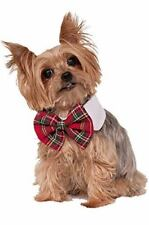 Christmas Holiday Sassy Dog Plaid Bow Tie & Collar Costume Accessory